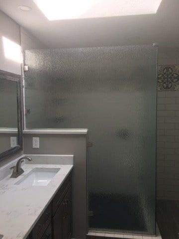 Glass Shower Walls - Custom Bath Remodel
