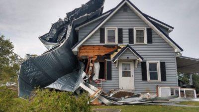 Derecho Storm Damage